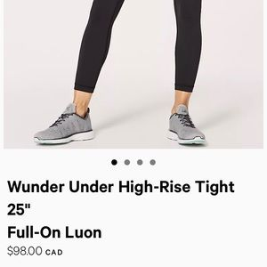 """Wunder Under High-Rise Tight 25""""  Full-On Luon"""